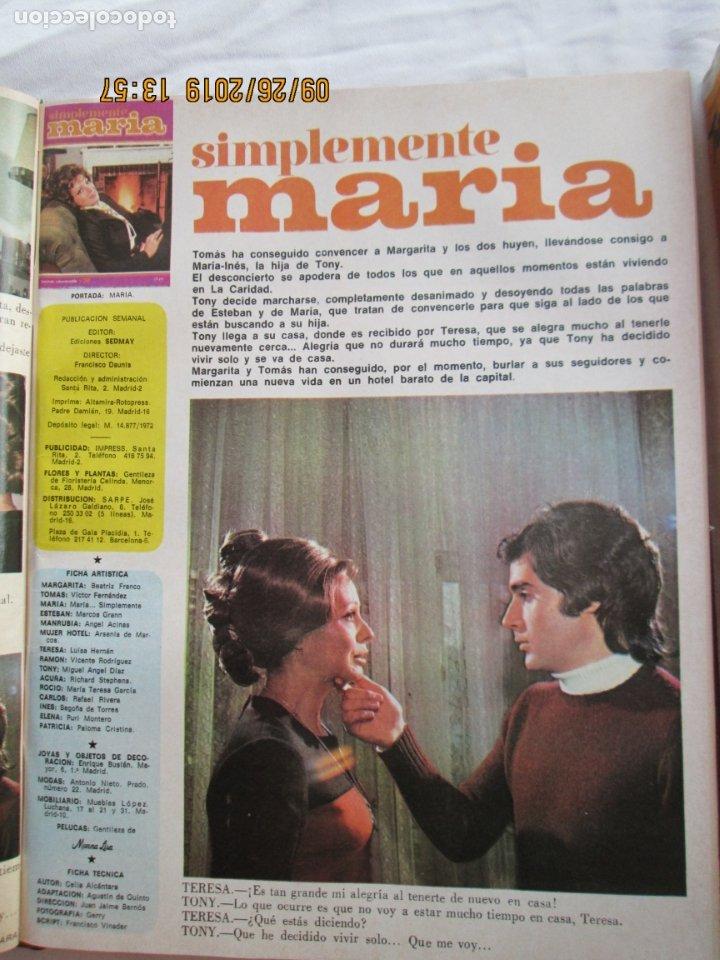 Libros de segunda mano: FOTONOVELA SIMPLEMENTE MARÍA COMPLETA 81 NÚMEROS. 3 TOMOS. AÑOS 70. - Foto 5 - 177815260