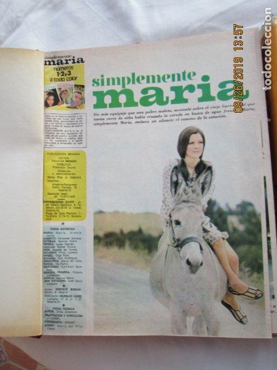 FOTONOVELA SIMPLEMENTE MARÍA COMPLETA 81 NÚMEROS. 3 TOMOS. AÑOS 70. (Libros de Segunda Mano (posteriores a 1936) - Literatura - Narrativa - Novela Romántica)