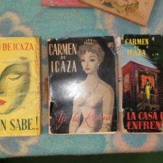 Libros de segunda mano: 3 LIBROS CARMEN DE ICAZA. Lote 178329585