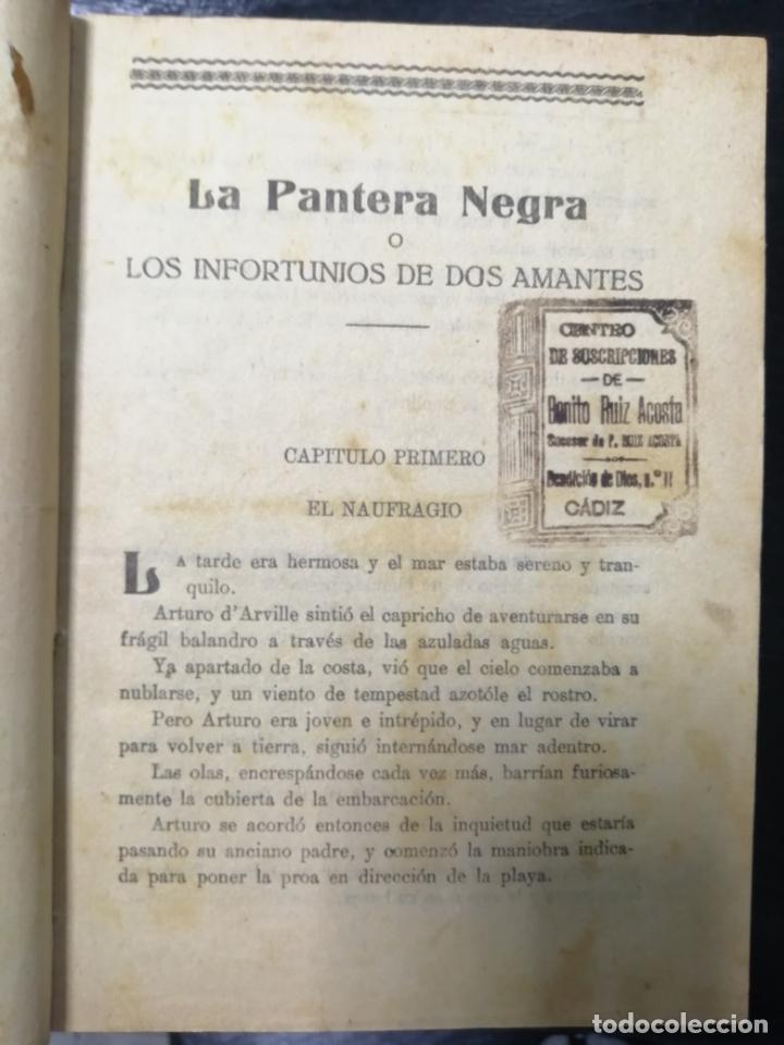 Libros de segunda mano: LA PANTERA NEGRA O LOS INFORTUNIOS DE DOS AMANTES, OBRA EN 3 VOLUMENES TOMO 1, 1 Y 2, 2. LEER - Foto 2 - 179138401