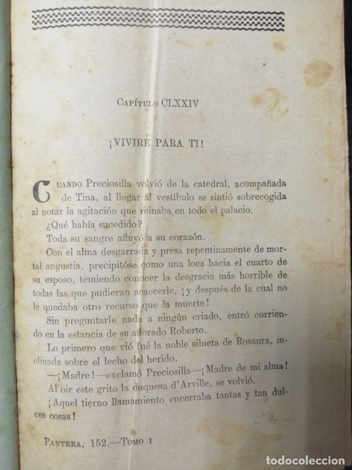 Libros de segunda mano: LA PANTERA NEGRA O LOS INFORTUNIOS DE DOS AMANTES, OBRA EN 3 VOLUMENES TOMO 1, 1 Y 2, 2. LEER - Foto 4 - 179138401
