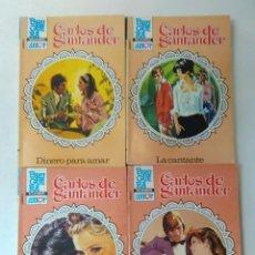 Libros de segunda mano: LOTE DE 4 NOVELAS ROMANTICAS CARLOS DE SANTANDER ~ BRUGUERA ~ NºS 907/908/913/915 ( AÑOS 80 ) LEER. Lote 179304783