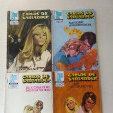 Libros de segunda mano: LOTE DE 4 NOVELAS ROMANTICAS CARLOS DE SANTANDER ~ BRUGUERA ~ NºS 874/896/899/901 ( AÑOS 80 ) LEER. Lote 179316295
