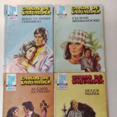 Libros de segunda mano: LOTE DE 4 NOVELAS ROMANTICAS CARLOS DE SANTANDER ~ BRUGUERA ~ NºS 890/891/893/894 ( AÑOS 80 ) LEER. Lote 179317302