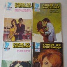 Libros de segunda mano: LOTE DE 4 NOVELAS ROMANTICAS CARLOS DE SANTANDER ~ BRUGUERA ~ NºS 883/884/888/889 ( AÑOS 80 ) LEER. Lote 179324218