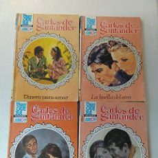 Libros de segunda mano: LOTE DE 4 NOVELAS ROMANTICAS CARLOS DE SANTANDER ~ BRUGUERA ~ NºS 908/915/944/946 ( AÑOS 80 ) LEER. Lote 179324828