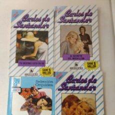 Libros de segunda mano: LOTE DE 4 NOVELAS ROMANTICAS CARLOS DE SANTANDER ~ BRUGUERA ~ NºS 16/948/953/956 ( AÑOS 80 ) LEER. Lote 179325342