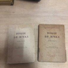 Libros de segunda mano: DUQUE DE RIVAS. Lote 180469687