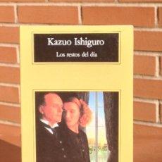 Libros de segunda mano: KAZUO ISHIGURO: LOS RESTOS DEL DÍA. Lote 182627590