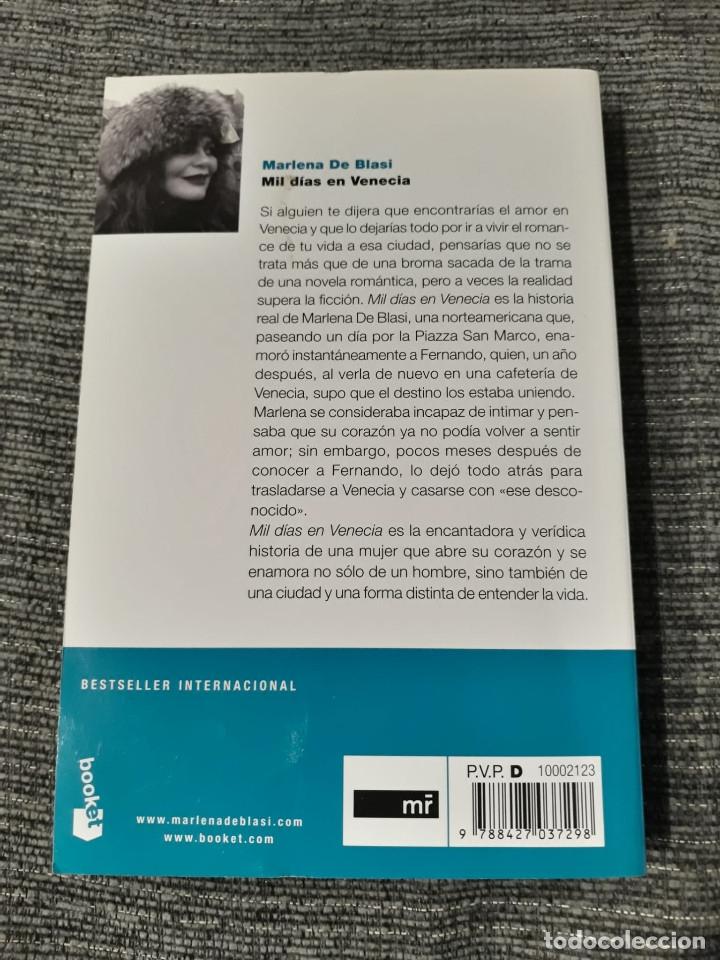 Libros de segunda mano: MIL DIAS EN VENECIA - MARLENA DE BLASI - Foto 2 - 182781202