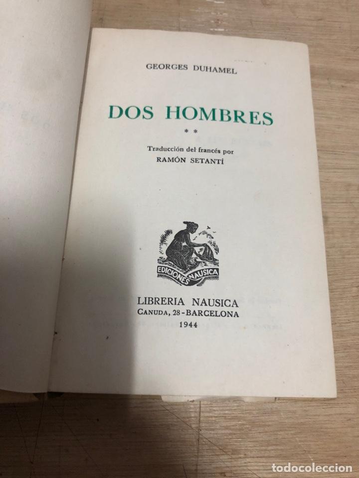 Libros de segunda mano: Dos hombres - Foto 2 - 183768326