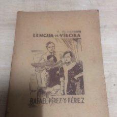 Libros de segunda mano: LENGUA DE VIBORA. Lote 183824692