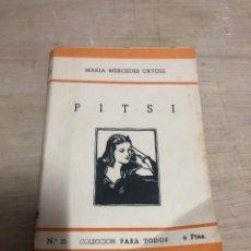 Libros de segunda mano: PITSI. Lote 184192466