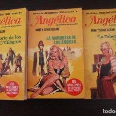 Libros de segunda mano: LOTE 3 LIBROS BRUGUERA BOLSILIBRO CLUB EVASION ANGELICA. Lote 191657733