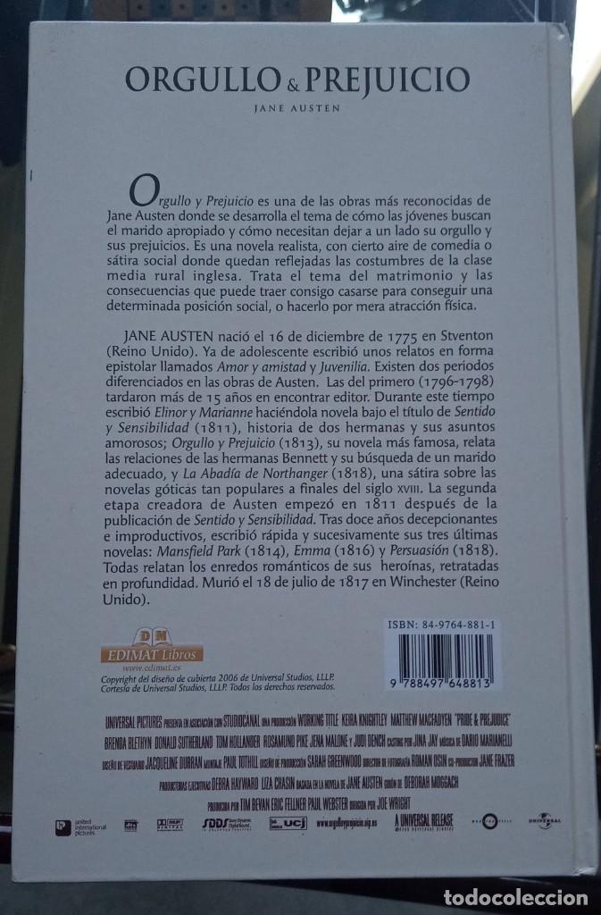 Libros de segunda mano: Orgullo y Prejuicio Jane Austen Tapa Dura 2006 EDIMAT libros - Foto 2 - 191984575