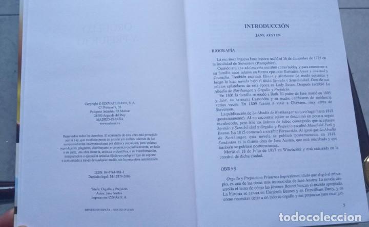 Libros de segunda mano: Orgullo y Prejuicio Jane Austen Tapa Dura 2006 EDIMAT libros - Foto 3 - 191984575