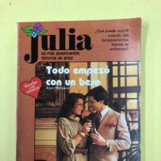 Libros de segunda mano: TODO EMPEZO CON UN BESO - JULIA Nº 41 - AÑO 1983. Lote 192624603