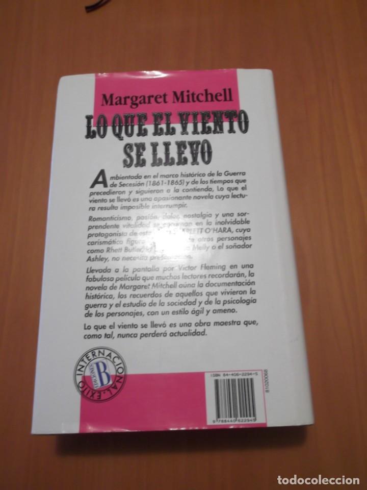 Libros de segunda mano: Libro Lo que el viento se llevo, Margaret Mitchell - Foto 2 - 194235340