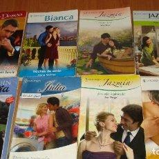 Libros de segunda mano: LOTE DE 8 NOVELAS ROMANTICAS-E.D. HARLEQUIN-AÑO 1993 APROXIMADO- TAPA BLANDA-MEDIDAS 17 X 11 CM-. Lote 194307817
