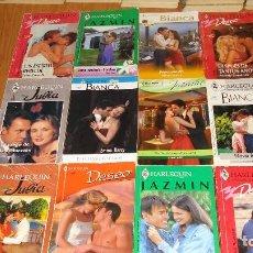 Libros de segunda mano: LOTE DE 12 NOVELAS ROMANTICAS-E.D. HARLEQUIN-AÑO 1993 APROXIMADO- TAPA BLANDA-MEDIDAS 17 X 11 CM-. Lote 194308207