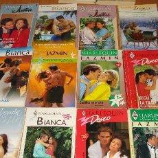 Libros de segunda mano: LOTE DE 12 NOVELAS ROMANTICAS-E.D. HARLEQUIN-AÑO 1993 APROXIMADO- TAPA BLANDA-MEDIDAS 17 X 11 CM-. Lote 194308530