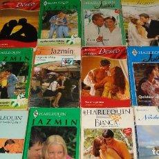 Libros de segunda mano: LOTE DE 12 NOVELAS ROMANTICAS-E.D. HARLEQUIN-AÑO 1993 APROXIMADO- TAPA BLANDA-MEDIDAS 17 X 11 CM-. Lote 194308845
