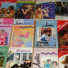 Libros de segunda mano: LOTE DE 12 NOVELAS ROMANTICAS-E.D. HARLEQUIN-AÑO 1993 APROXIMADO- TAPA BLANDA-MEDIDAS 17 X 11 CM-. Lote 194309386