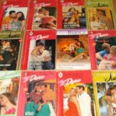 Libros de segunda mano: LOTE DE 12 NOVELAS ROMANTICAS-E.D. HARLEQUIN-AÑO 1993 APROXIMADO- TAPA BLANDA-MEDIDAS 17 X 11 CM-. Lote 194309505