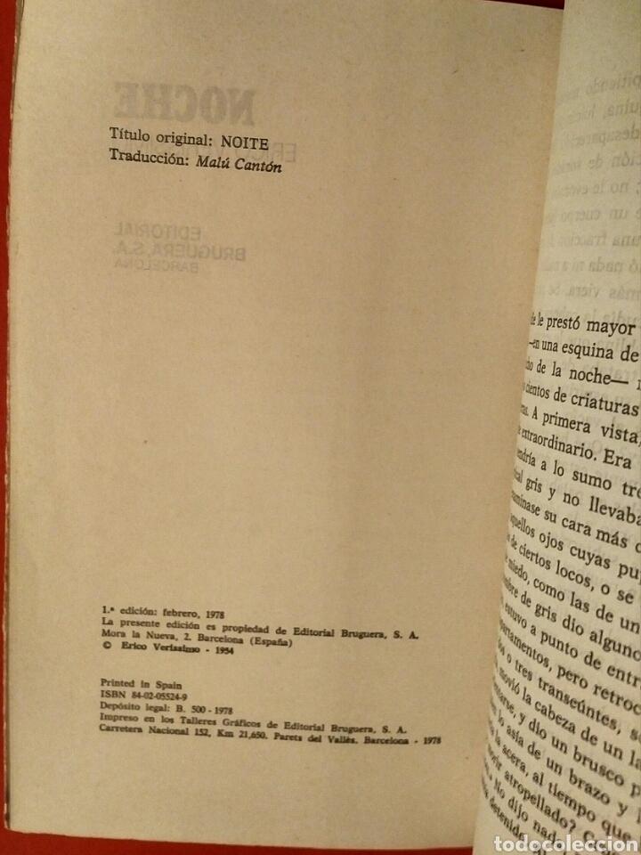 Libros de segunda mano: Noche - Erico Verissimo, Ed. Bruguera, Barcelona, 1978 - 1a edición - Foto 2 - 194525273