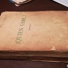Libros de segunda mano: QUIÉN SABE.... NOVELA DE CARMEN DE ICAZA. 1953.. Lote 195333220