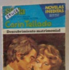 Libros de segunda mano: 29406 - NOVELA ROMANTICA - CORIN TELLADO - COL SILVIA - DESCUBRIMIENTO MATRIMONIAL - Nº 446. Lote 195447216