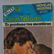 Libros de segunda mano: 29407 - NOVELA ROMANTICA - CORIN TELLADO - COL SILVIA - TE PERDONO TUS MENTIRAS - Nº 412. Lote 195447223