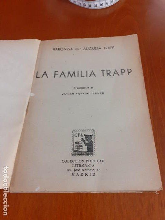 Libros de segunda mano: Novela La familia Trapp de 1961 - Foto 2 - 199930805