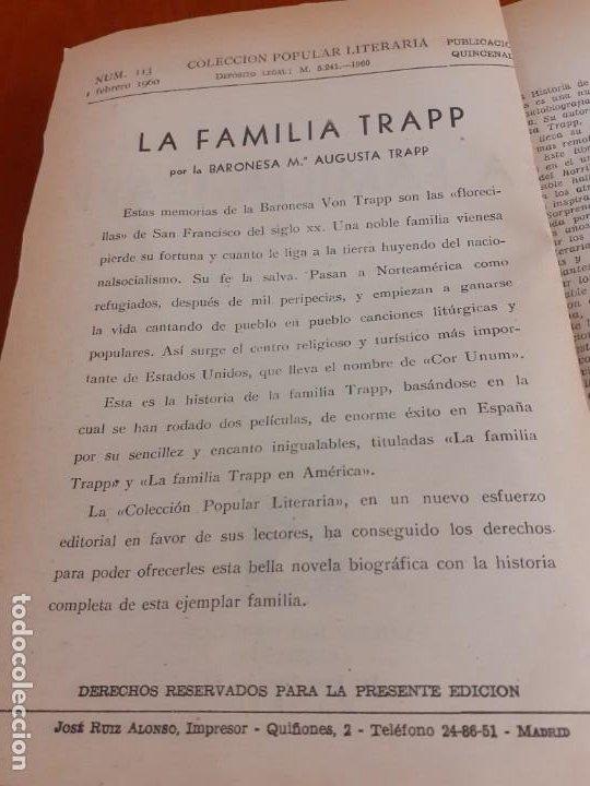 Libros de segunda mano: Novela La familia Trapp de 1961 - Foto 3 - 199930805