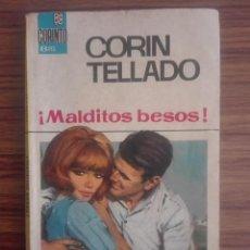 Libros de segunda mano: 1958 MALDITOS BESOS CORIN TELLADO 1ª EDICIÓN EN COLECCIÓN BRUGUERA 1966 CORINTO NOVELA ROSA 80G. Lote 208354853