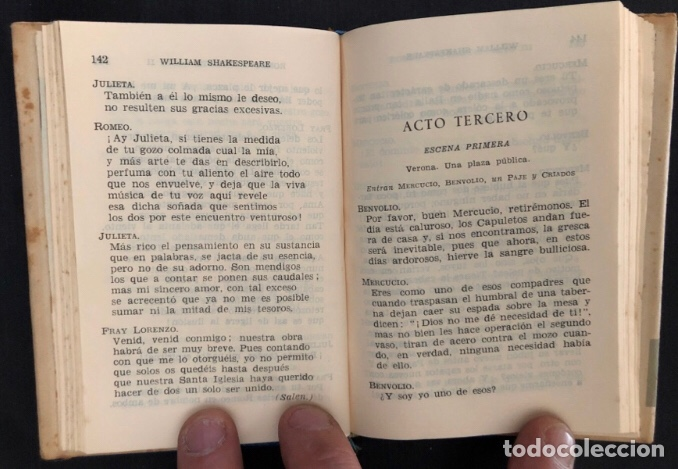 Libros de segunda mano: COLECCIÓN CRISOL N°85 bis. ROMEO Y JULIETA, LOS DOS HIDALGOS DE VERONA. SHAKESPEARE. AGUILAR (1964) - Foto 5 - 267171929