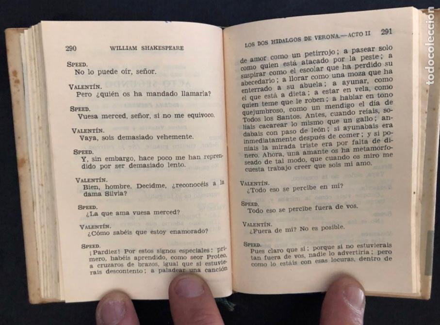 Libros de segunda mano: COLECCIÓN CRISOL N°85 bis. ROMEO Y JULIETA, LOS DOS HIDALGOS DE VERONA. SHAKESPEARE. AGUILAR (1964) - Foto 6 - 267171929