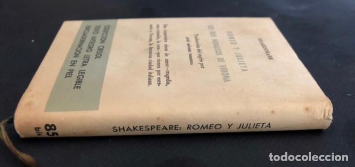 Libros de segunda mano: COLECCIÓN CRISOL N°85 bis. ROMEO Y JULIETA, LOS DOS HIDALGOS DE VERONA. SHAKESPEARE. AGUILAR (1964) - Foto 9 - 267171929