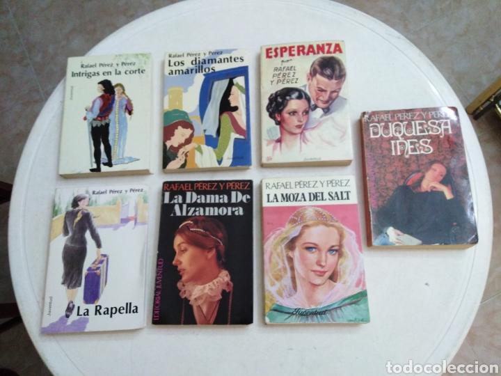 LOTE DE 7 LIBROS RAFAEL PÉREZ Y PÉREZ ( EDITORIAL JUVENTUD ) (Libros de Segunda Mano (posteriores a 1936) - Literatura - Narrativa - Novela Romántica)