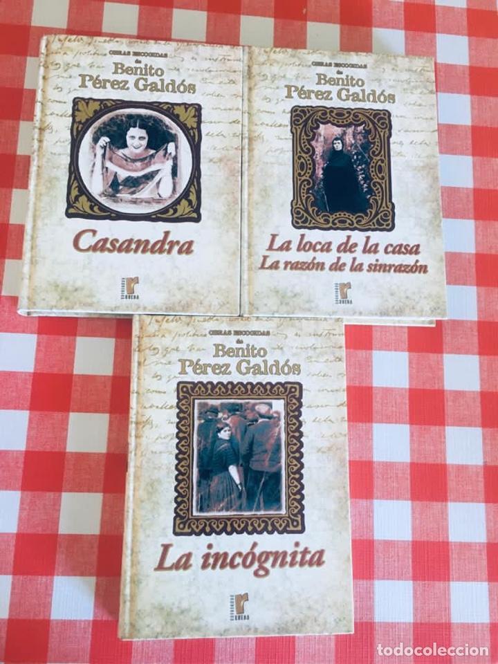 OBRAS ESCOGIDAS DE BENITO PEREZ GALDOS - CASANDRA - LA LOCA DE LA CASA - LA INCÓGNITA (Libros de Segunda Mano (posteriores a 1936) - Literatura - Narrativa - Novela Romántica)