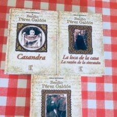 Libros de segunda mano: OBRAS ESCOGIDAS DE BENITO PEREZ GALDOS - CASANDRA - LA LOCA DE LA CASA - LA INCÓGNITA. Lote 223259581