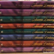 Libros de segunda mano: JOHANNA LINDSEY. LOTE DE 8 NOVELAS ROMÁNTICAS. RBA EDITORES. TAPAS DURAS.. Lote 224842475