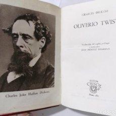 Libros de segunda mano: OLIVERIO TWIST POR CHARLES DICKENS, AÑO 1946, EDITOR M. AGUILAR, Nº 180. Lote 227862365