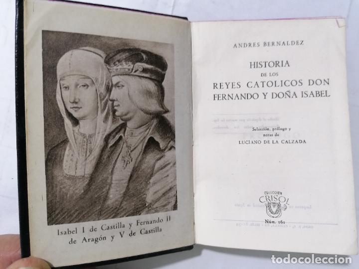 HISTORIA DE LOS REYES CATOLICOS, AÑO 1946, COLECCION CRISOL, EDITOR M. AGUILAR, Nº 161 (Libros de Segunda Mano (posteriores a 1936) - Literatura - Narrativa - Novela Romántica)