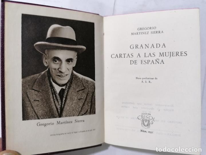 GRANADA CARTAS A LAS MUJERES DE ESPAÑA, AÑO 1948, COLECCION CRISOL, EDITOR M. AGUILAR, Nº 235 (Libros de Segunda Mano (posteriores a 1936) - Literatura - Narrativa - Novela Romántica)