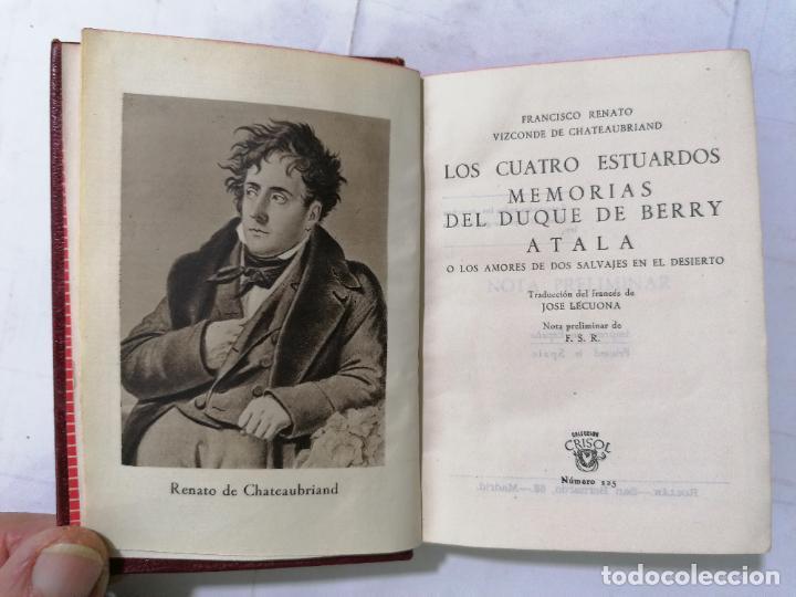 LOS CUATRO ESTUARDOS, MEMORIAS DE DUQUE DE BERRY, AÑO 1945, EDITOR M. AGUILAR, Nº 125 (Libros de Segunda Mano (posteriores a 1936) - Literatura - Narrativa - Novela Romántica)