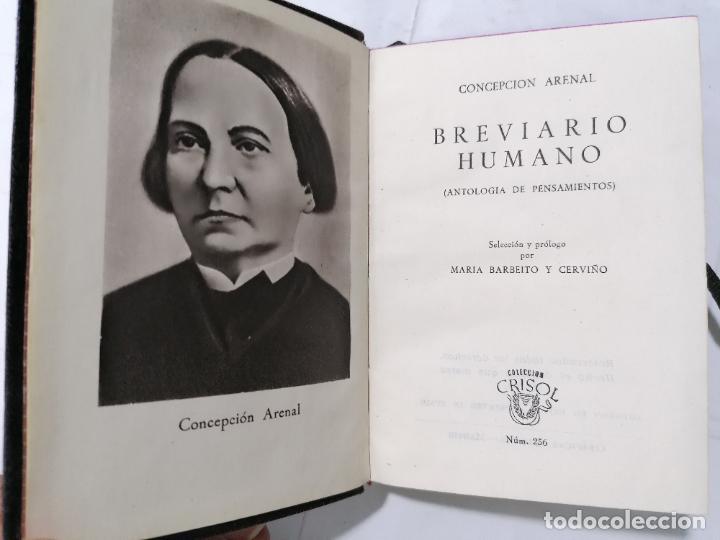 BREVIARIO HUMANO POR CONCEPCION ARENAL, ANTOLOGIA DE PENSAMIENTO AÑO 1949, EDITOR M. AGUILAR, Nº 256 (Libros de Segunda Mano (posteriores a 1936) - Literatura - Narrativa - Novela Romántica)
