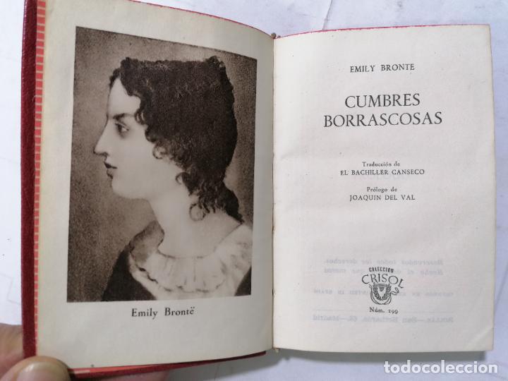 CUMBRES BORRASCOSAS POR EMILY BRONTE, AÑO 1947, EDITOR M. AGUILAR, Nº 199, COLECCION CRISOL (Libros de Segunda Mano (posteriores a 1936) - Literatura - Narrativa - Novela Romántica)