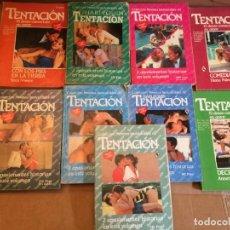 Libros de segunda mano: LOTE 9 NOVELAS ROMANTICAS TENTACION. Lote 228337365