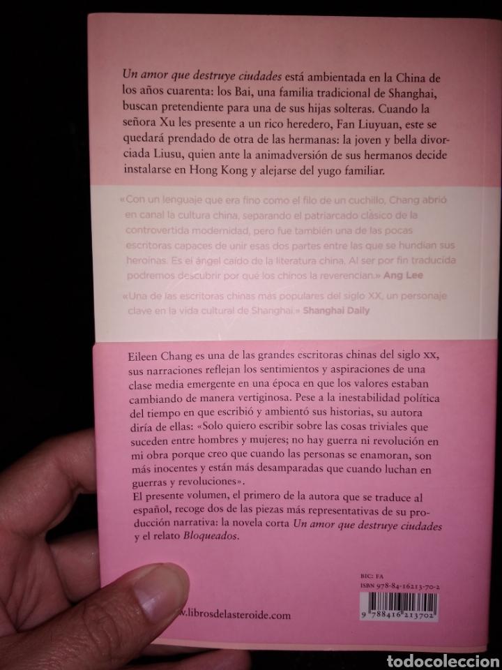 Libros de segunda mano: Un amor que destruye ciudades eileen Chang - Foto 2 - 232214845